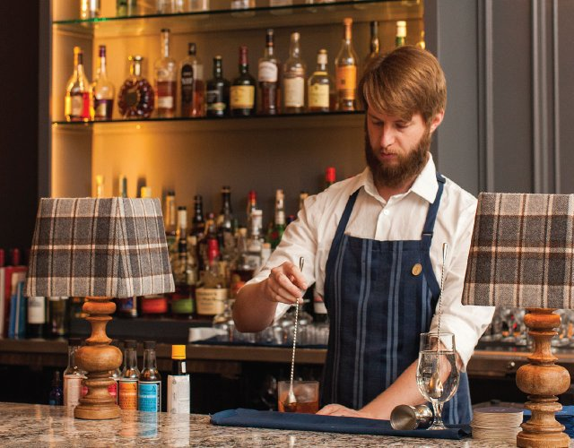 The bar at 510 Lounge and Private Dining