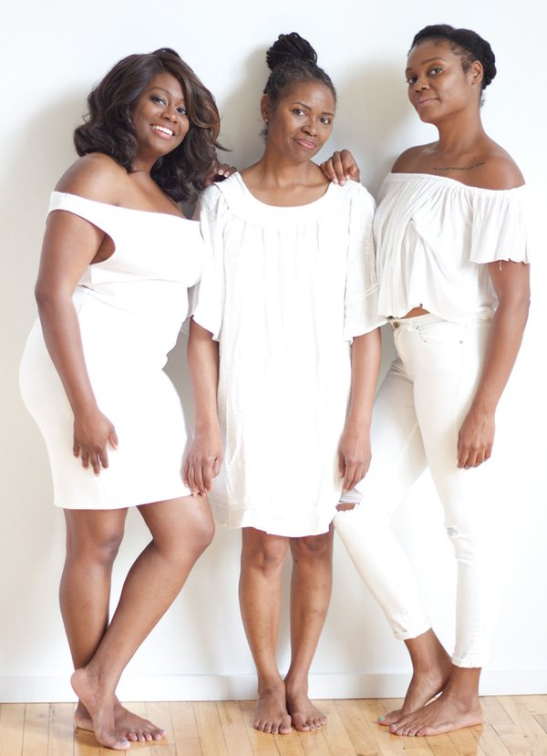 Jenae, Robin, and Jasmine Harris of HuesBox