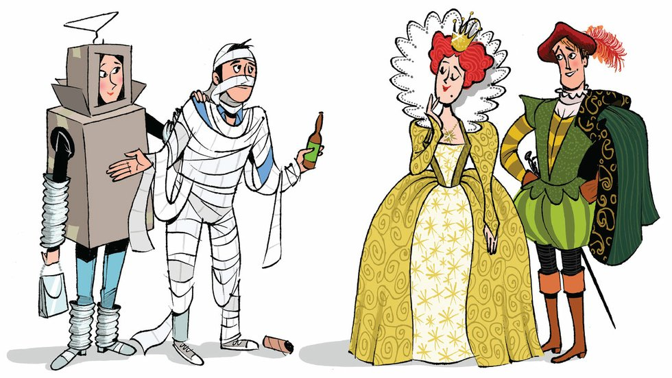 Halloween costumes illustration  sc 1 st  Mpls.St.Paul Magazine & Adults Are Taking Over Halloweenu2014Is Your Costume Ready? - Mpls.St ...