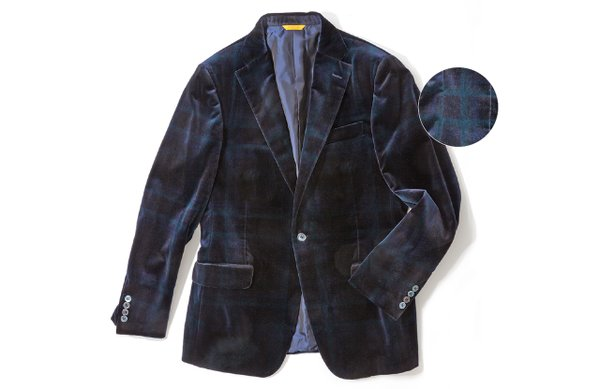 Mens plaid blazer by Hickey Freeman