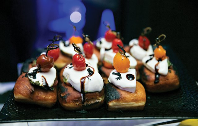Flame-charred donuts from CRAVE.