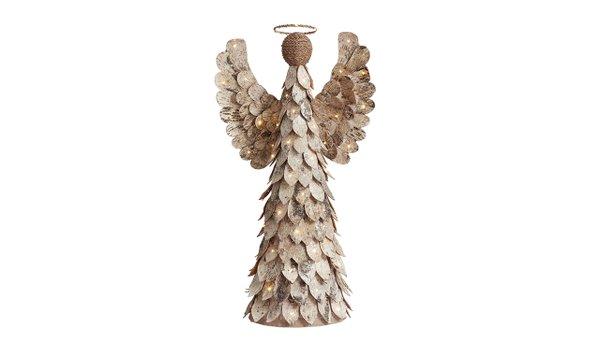 Lit glitter birch angel from Pottery Barn