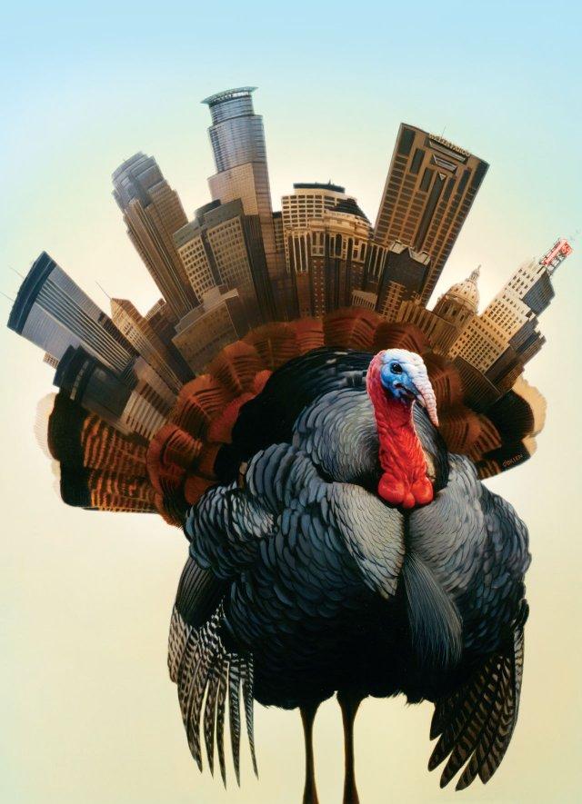 Illustrations of a wild turkey