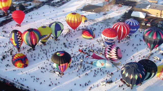 Hot Air Affair in Hudson, Wisconsin
