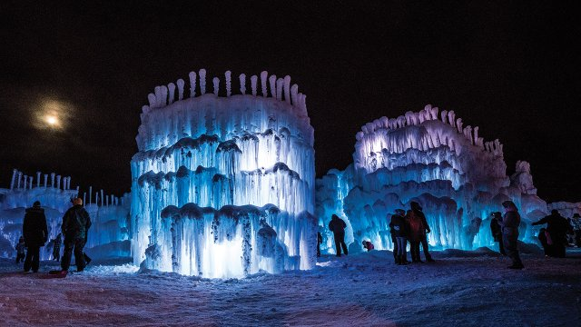 Ice castles in Stillwater