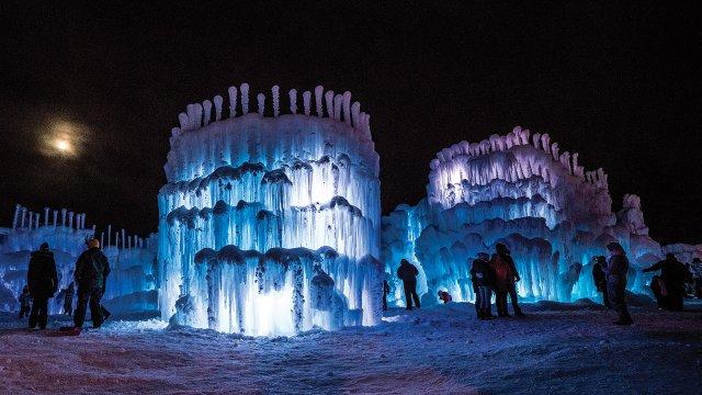 Ice castles in Stillwater