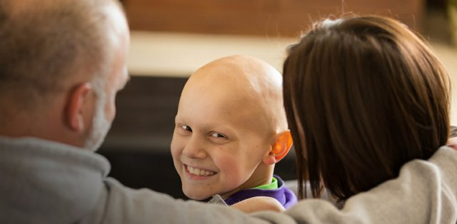 Griffin, cancer patient supported by Children's Cancer Research Fund