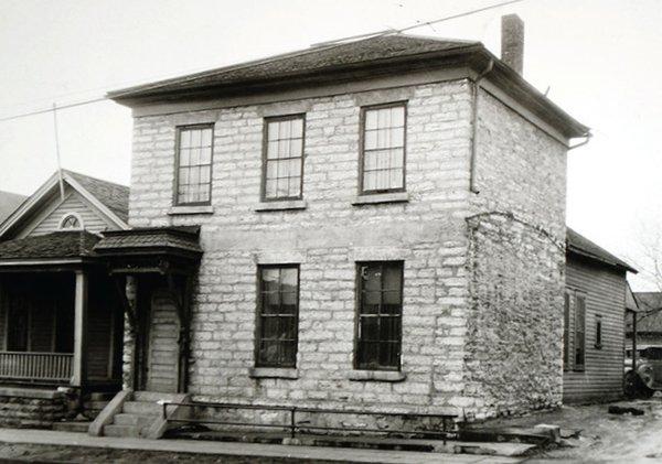 Former Waldmann Brewery & Wustery building in 1857