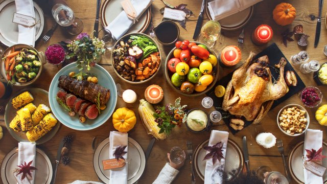 Thanksgiving table top