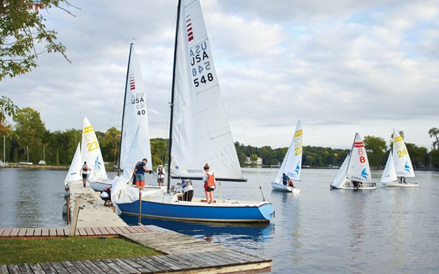 Sail boats at Lake Minnetonka Sailing School