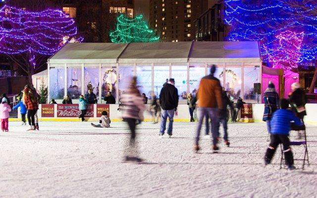 Holidazzle Ice Skating