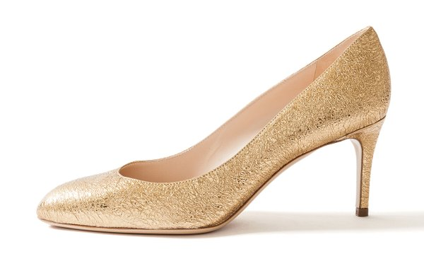 Gold leather pumps from Pumpz
