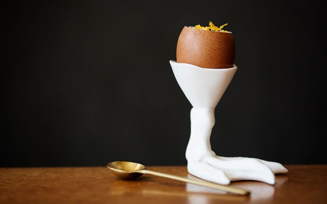 Grand Cafe Egg Cup - Photo by Eliesa Johnson