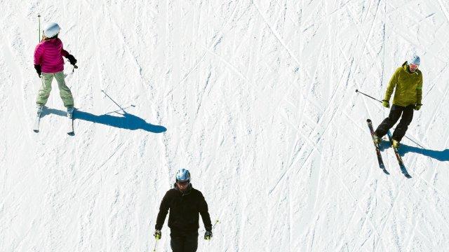 Skiing on Spirit Mountain