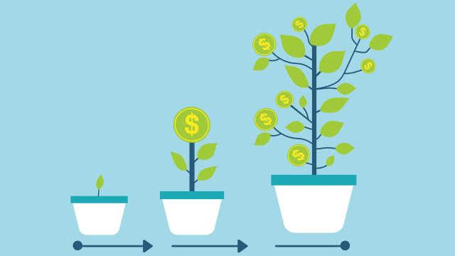 Illustration of money plants