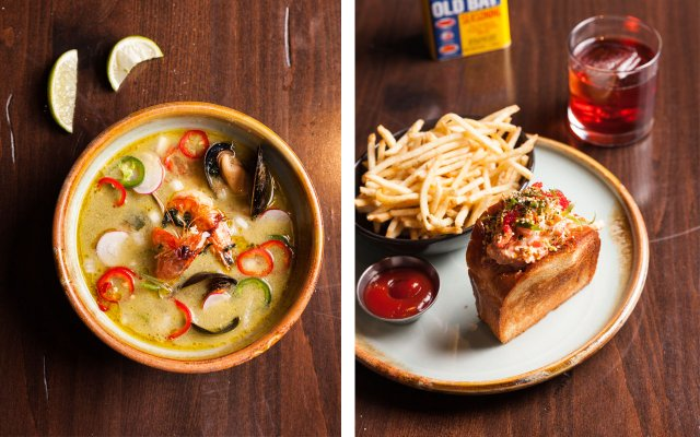 Seafood soup and Lobster Roll from Octo Fishbar