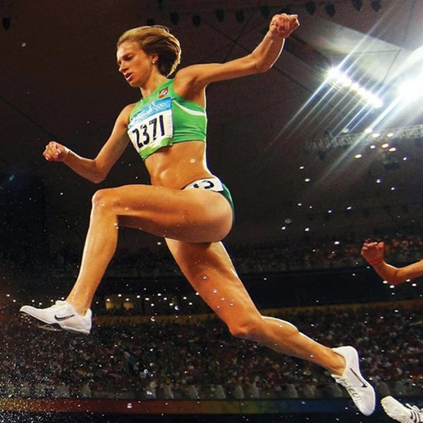 Rasa Troup competing in the Olympics