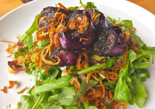 Book Club Salad with Eggplant