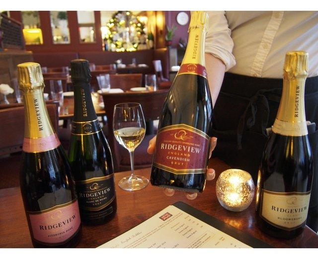 Ridgeview sparkling wine at Meritage