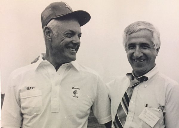 Bud Grant and Sid Hartman