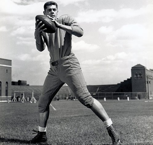 Bud Grant as a Gopher football player