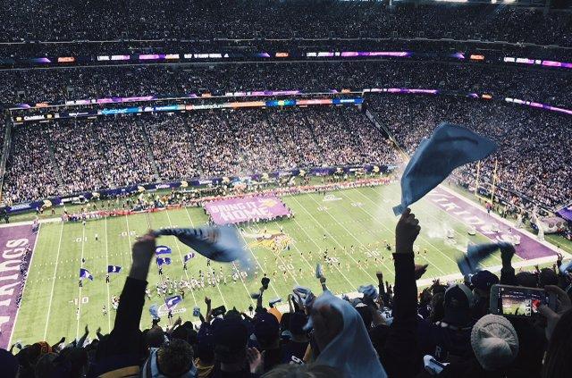 Vikings game at U.S. Bank Stadium
