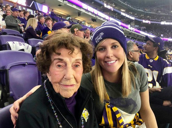Millie and Ashely Wall at the Vikings game