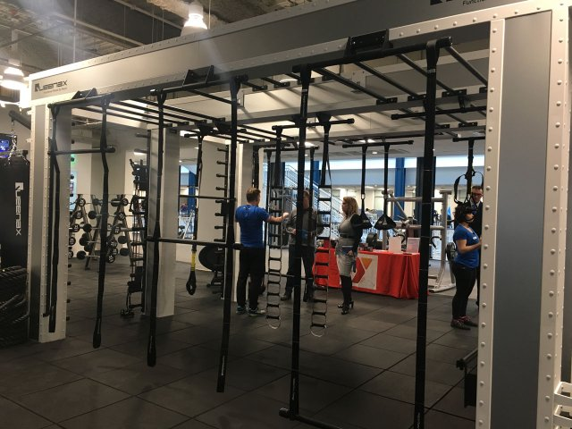 Exercise equipment at Gaviidae YMCA.