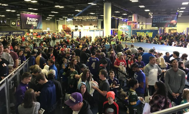 The crowd at Super Bowl Experience