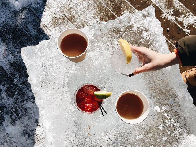 Ice bar at Crave