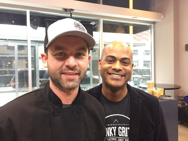 Funky Grits' chef Jordan Carlson (left) and owner Jared Brewington