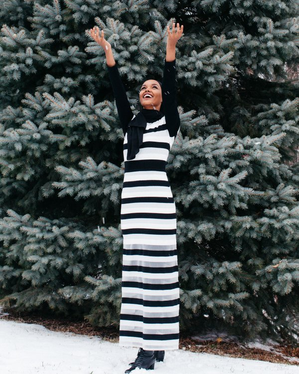 Model Halima Aden in Savage, MN