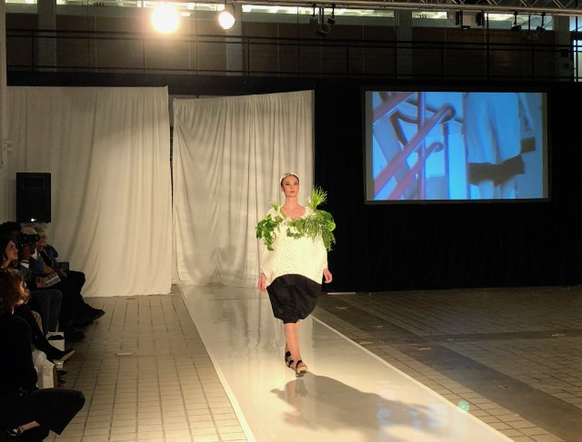 One of Caitlin Hartman's designs in her senior collection, Survival