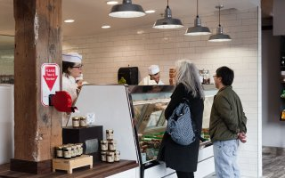 Customers at The Herbivorous Butcher