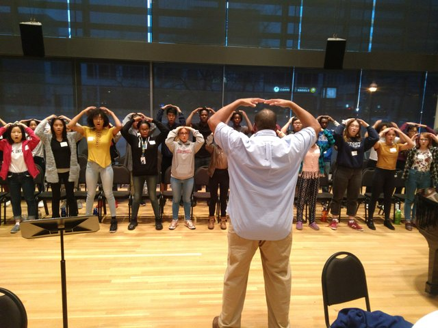 VocalEssence Youth Choir's first rehearsal
