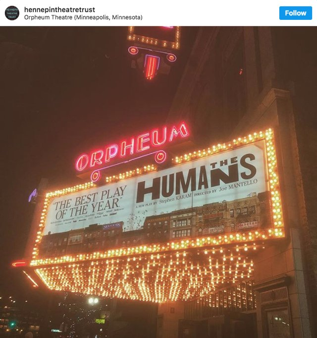 Orpheum Theatre instagram screen shot