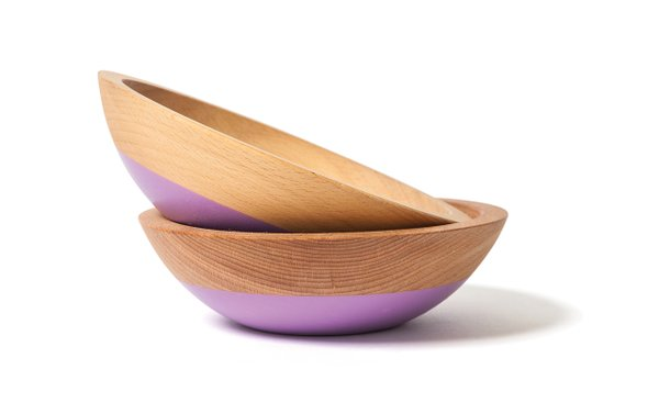 Lavender dipped snack bowls from Willful Goods