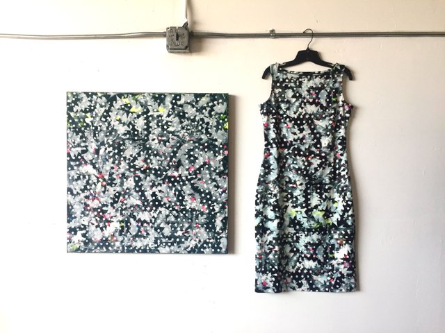Alice Riot Dress and Kate Iverson Painting