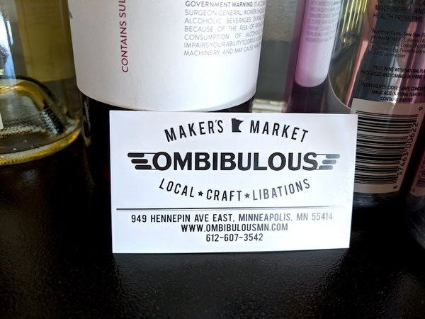 Ombibulous business card