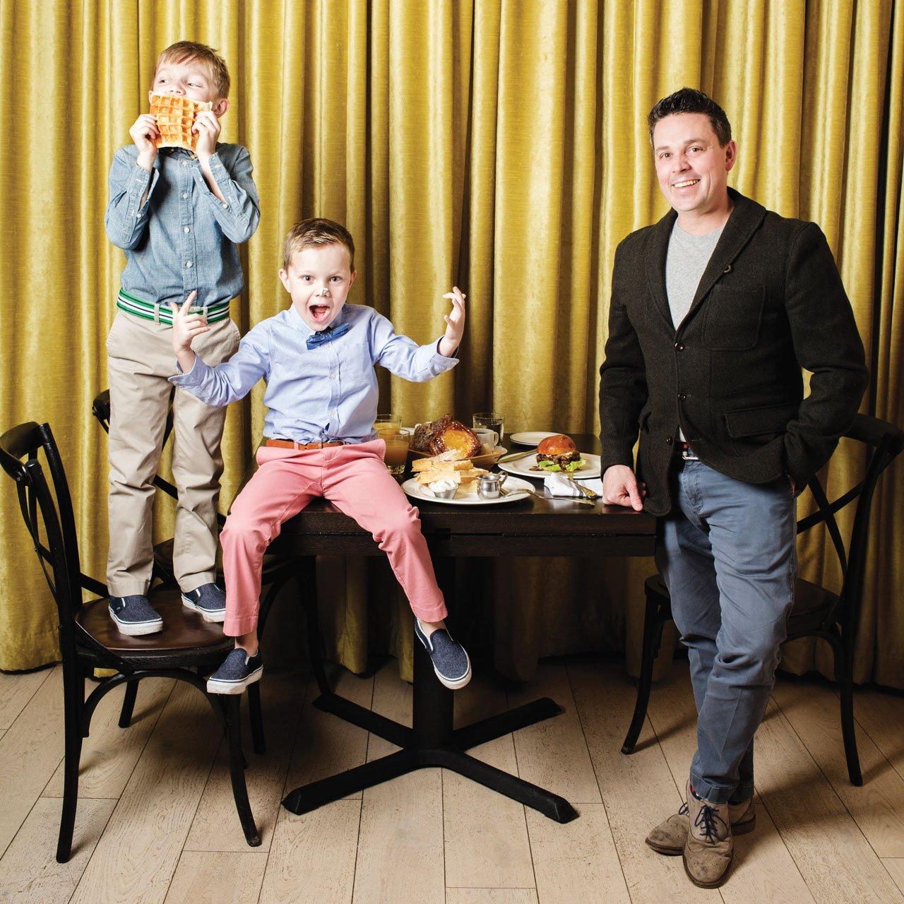 Gavin Kaysen and sons at Bellecour