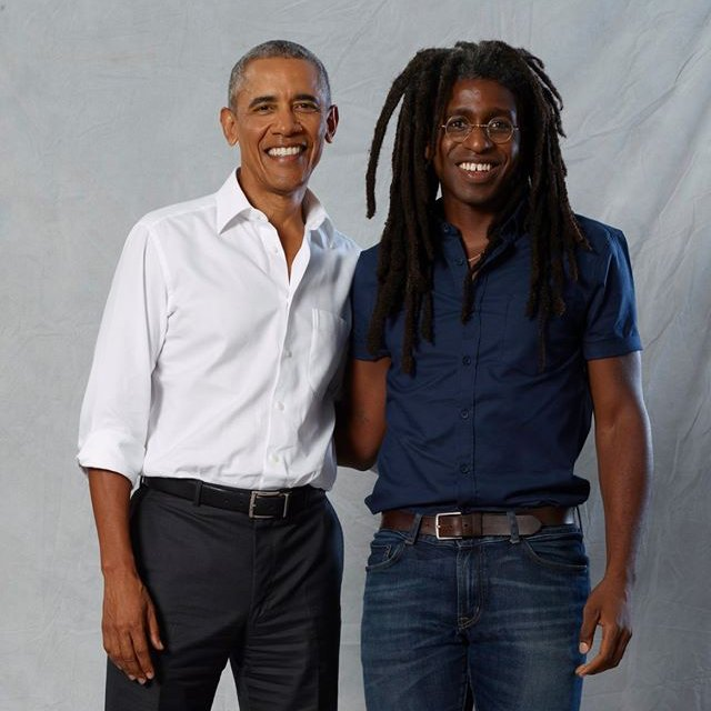 Former President Barack Obama and Photographer Brad Ogbonna