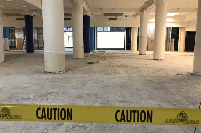 Dayton's Project first floor terrazzo unearthed