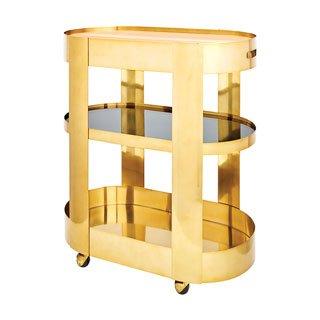 Gold bar cart from CB2.