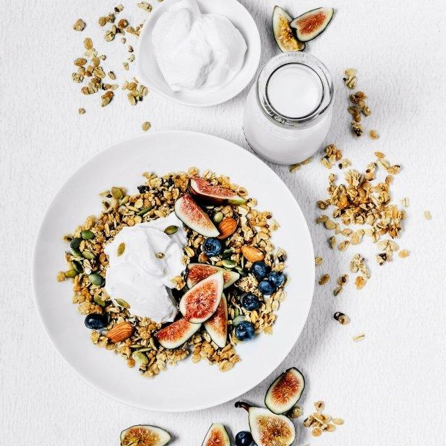 Fruit, yogurt, and granola bowl