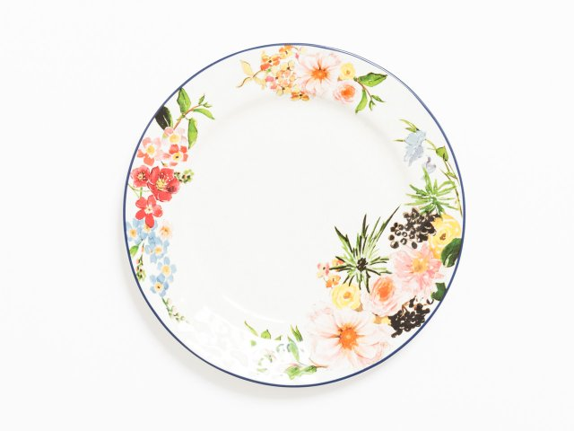 Floral plate from Pottery Barn