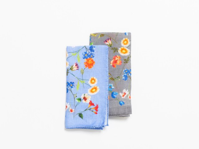 Floral pocket squares by Amanda Christensen