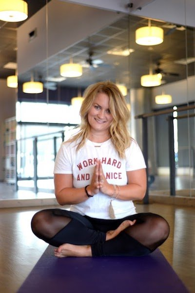 Jen Wieck of YogaFit