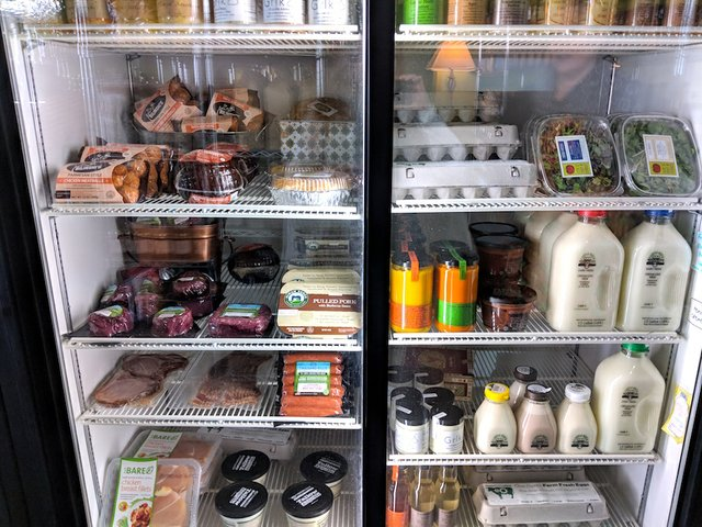 Dairy and meats at the Golden Fig