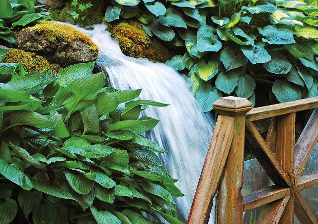 garden with waterfall - Water Garden Theater