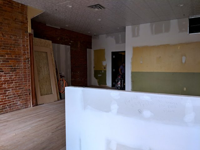 Interior of Parlour St. Paul under construction